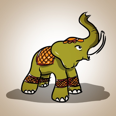 Elelphant comic Thai style , illustration Vector