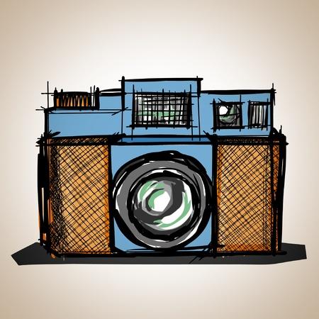 Aparat zabawka vintage, illustration Ilustracja