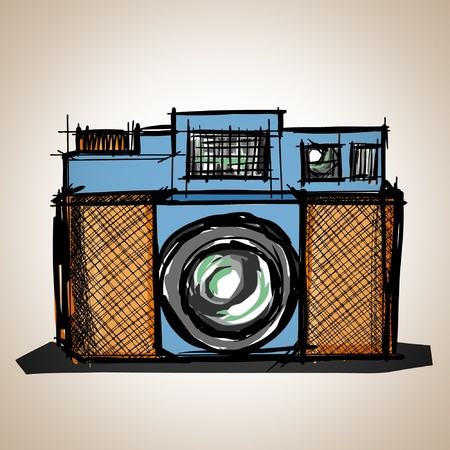 Camera toy vintage, illustration  Illustration