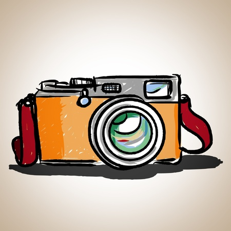 Camera toy vintage, illustration