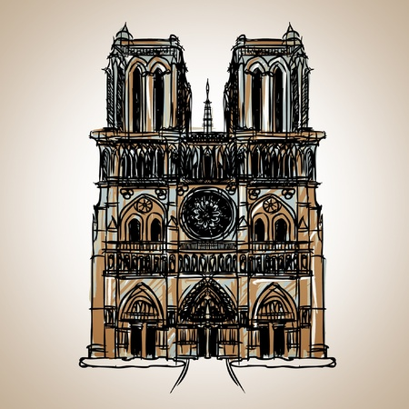 Notre Dame Cathedral : Paris Vector