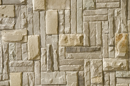 Stone pattern on wall photo