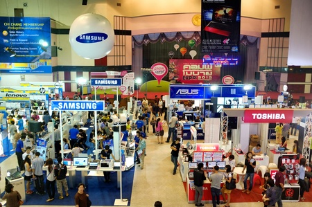CHIANG MAI THAILAND-JULY 7 : Computer Mobile Expo 2012.People come to buy computer equipment and technology in the year. at Chiang Mai University Auditorium.on July 7,2012 in Chiangmai Thailand