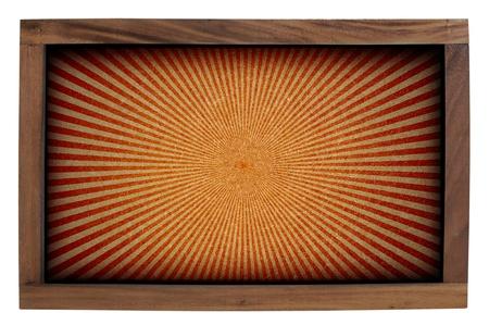 Sunshine wood frame isolated on white background. Stock Photo - 14372197