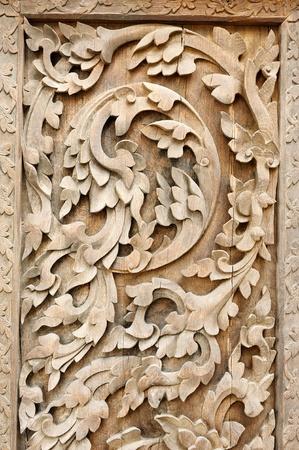 Thai Lanna pattern ; handicraft wood photo