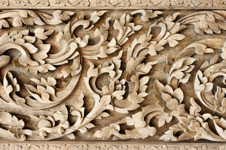 Lanna Thailand pattern ; handicraft wood photo