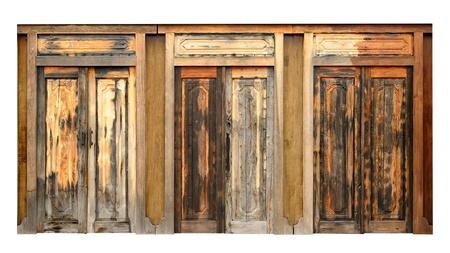 Ancient wood doors : Lanna Thai contemporary style photo