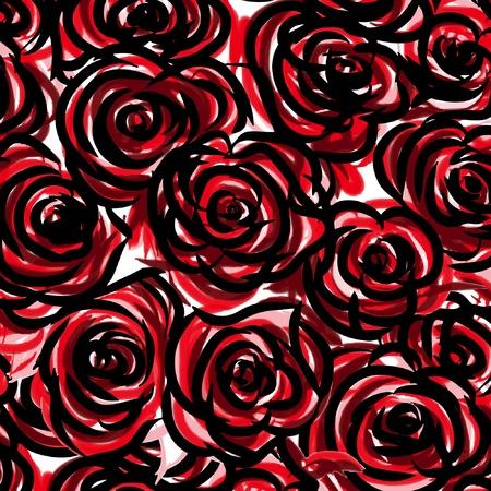 Seamless rose Stock Vector - 14530793