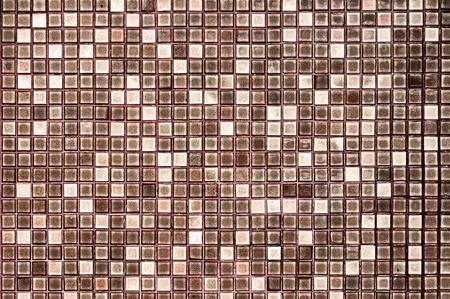 Abstract square pixel mosaic background ; Antique glossy tile. photo