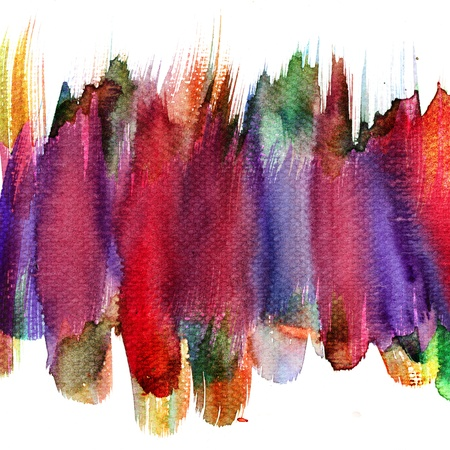 Abstract stain watercolors colors wet on dry paper