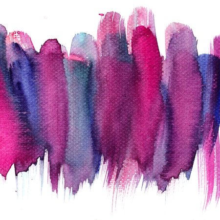 blue violet bright: Abstract stain watercolors colors wet on dry paper