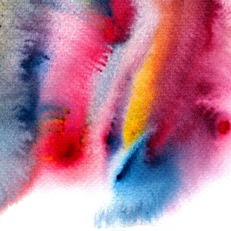 Abstract watercolors ; colors wet on wet art paper.