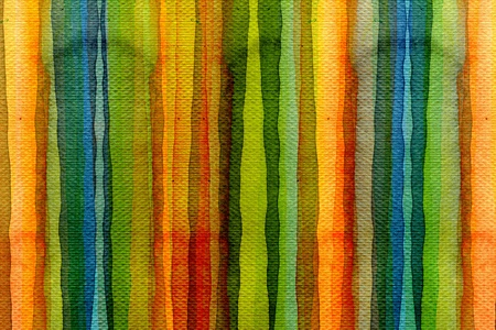 Abstract stripe watercolors ; colors wet on dry paper  Stok Fotoğraf