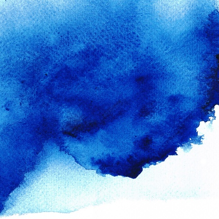 watercolor blue: Blue Wet on wet abstract watercolors