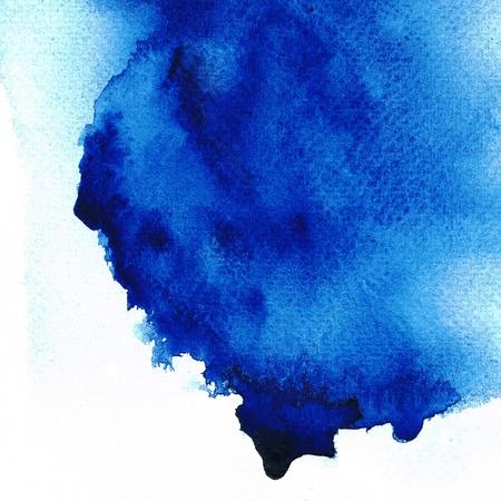 Niebieski mokro na mokro abstrakcyjnych akwareli Zdjęcie Seryjne