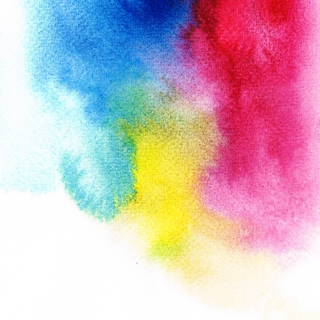 Primary hue color Wet on wet abstract watercolors