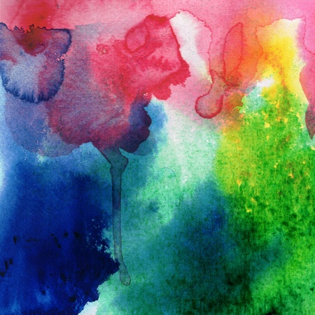 Abstract watercolors Study wet on wet Technique  photo