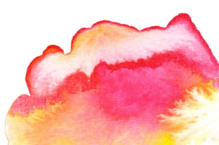 water color painting: Abstract watercolors ; wet on dry paper Stock Photo