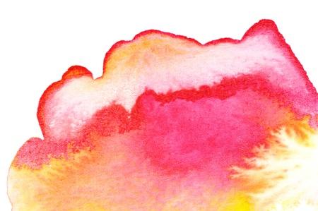 Abstrakte Aquarelle; nass auf trocken Papier Standard-Bild