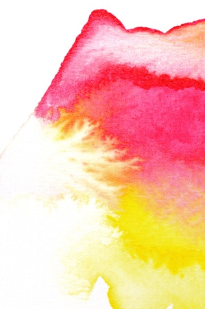 Abstract watercolors ; wet on dry paper Stock Photo