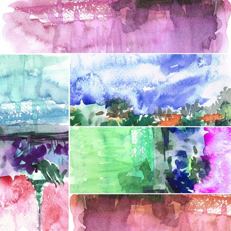 Abstract watercolors ; collection tab. photo