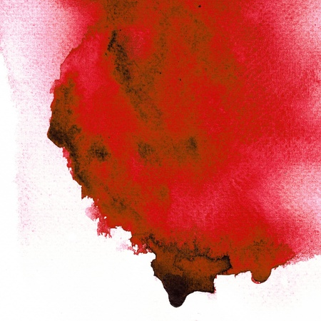stroke: Red Wet on wet abstract watercolor
