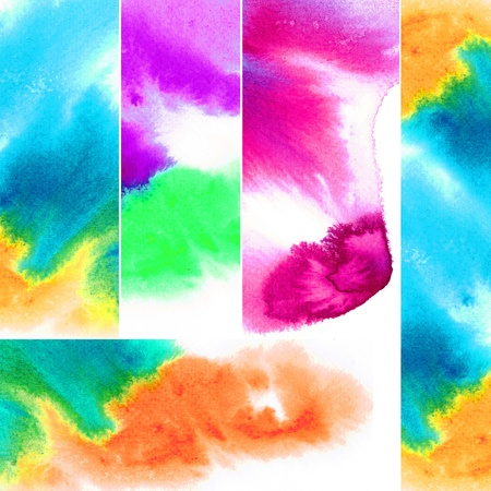 Abstract watercolors ; collection tab Stock Photo - 14882286