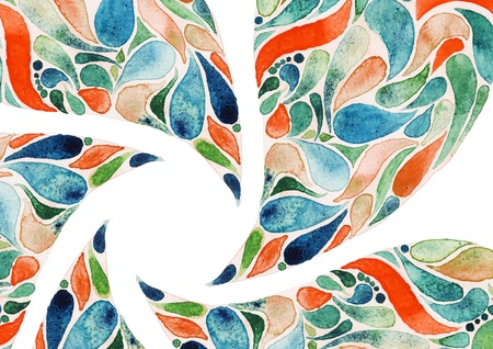 Abstract flower watercolors illustration concept illustration