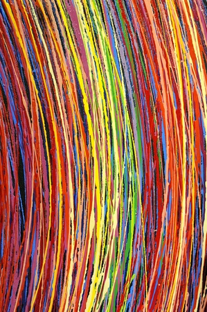 modern art: Stripe pattern paint oil colors on canvas