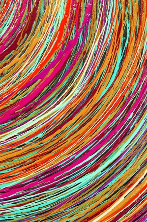 Stripe pattern paint oil colors on canvas