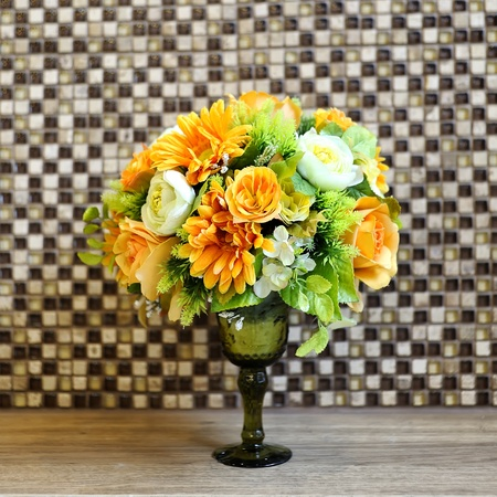 Artificial flowers indoor Stock Photo - 15214753