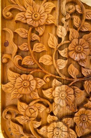 wood carvings: Wood Thai pattern Handmade wood carvings.