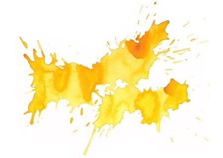 Abstract splash aquarel: illustratie op papier