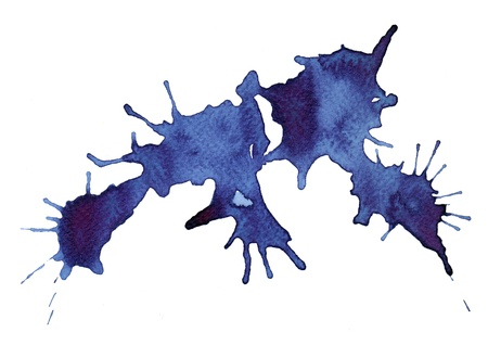 Abstract splash watercolor : illustration on paper Stock Illustration - 15044554