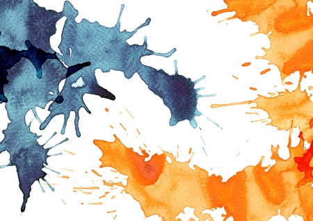Abstract splash watercolor : illustration on paper