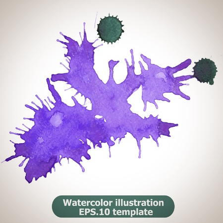Abstract splash watercolor : illustration  Stock Vector - 15121780