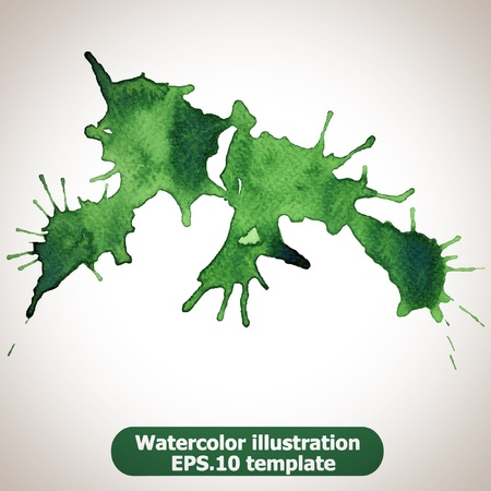 Abstract splash watercolor : illustration  Stock Vector - 15121784