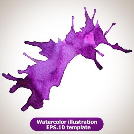 watercolour paintbrush: Abstract splash watercolor : illustration