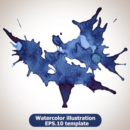 splash color: Abstract splash acquerello: illustrazione