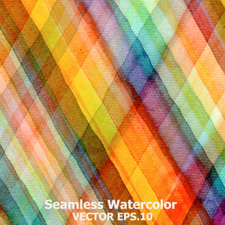 Abstract tartan watercolor  Vector