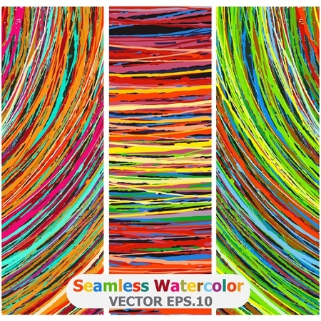 Seamless watercolor  Vector