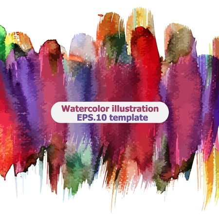 Abstract watercolor Vector