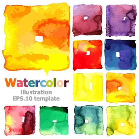 paint box: Abstract watercolor