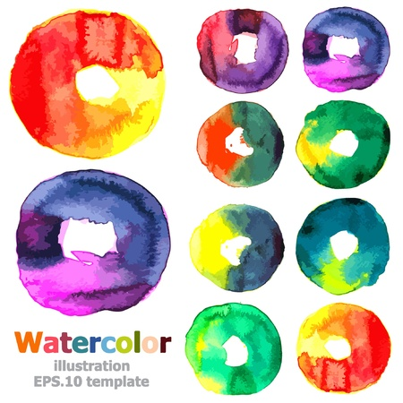 Abstract watercolor collection  Vector
