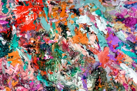 Abstract dirty paint