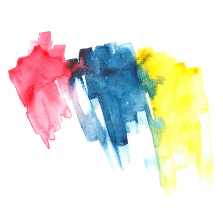 primary colors: Primary watercolor  Illustration