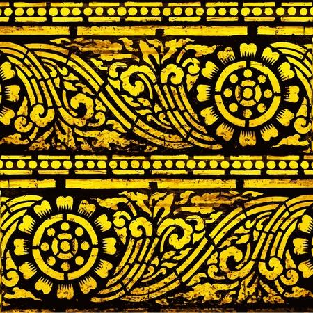 Thailand Lanna pattern  Vector