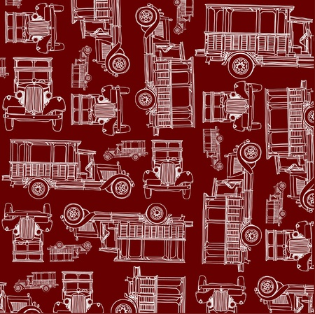 Seamless ancient truck pattern Stock Vector - 15579066