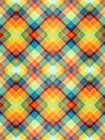 Seamless tartan watercolor  Vector