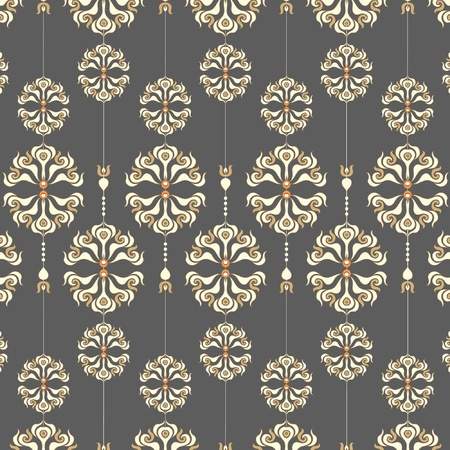 drawing on the fabric: Seamless flower pattern